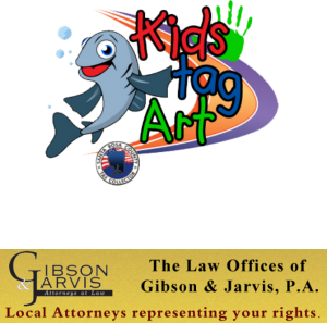 Kids Tag Art Logo, Sponsored by Gibson & Jarvis