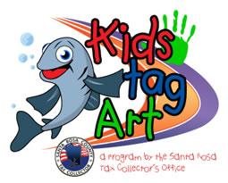 kids tag art logo